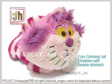 Sweet Fury Cheshire cat beanie stomach Disney Sega Japan