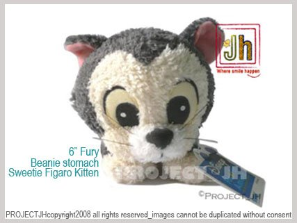 Sweet Fury Figaro kitten beanie stomach Disney Sega Japan