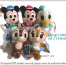 Chip and Dale mickey minnie donald set sailing Disney Sega Japan
