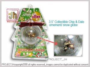 Chip and Dale Christmas ornement/globe Disney Sega Japan
