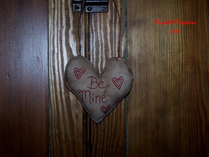 Primitive Stitchery Be Mine.....Ornie Cupboard Hanger