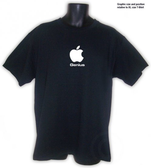 Apple Genius - T-Shirt Black S, M, L, XL ~ FREE SHIPPING