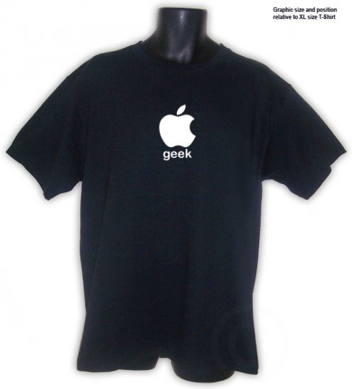 Apple Geek T-Shirt Black S, M, L, XL, 2XL