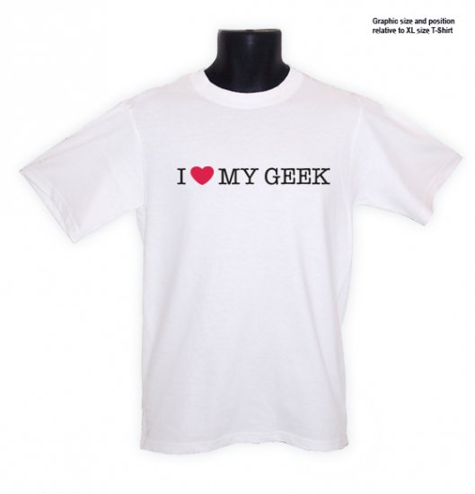 I Love (heart) My Geek Hacker COOL T-Shirt S, M, L, XL ~ FREE SHIPPING