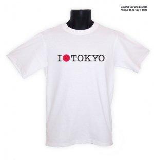 I Love TOKYO Sun Japan Japanese COOL T-Shirt white  S, M, L, XL, 2XL