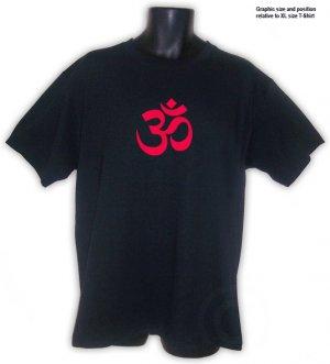 OM Symbol Hindu India Yoga Aum Nepal T-Shirt Black S, M, L, XL, 2XL