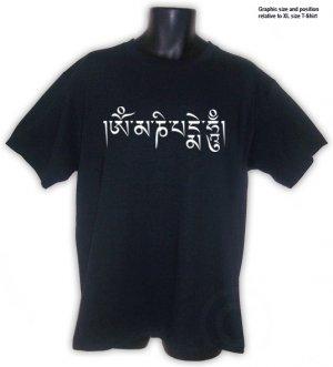 OM MANI PADME HUM BUDDHIST MANTRA Shirt Black S, M, L, XL, 2XL