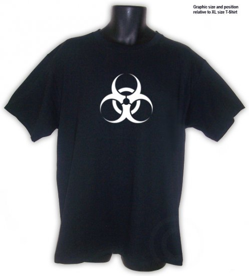 BIOHAZARD Symbol Punk Acid Trance Party Shirt Black S, M, L, XL, 2XL