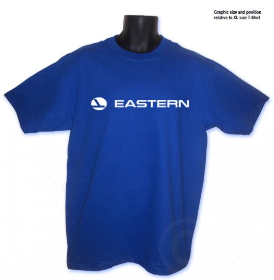 Eastern Air Lines Aviation Classic Royal Blue T-shirt S, M, L, XL, 2XL