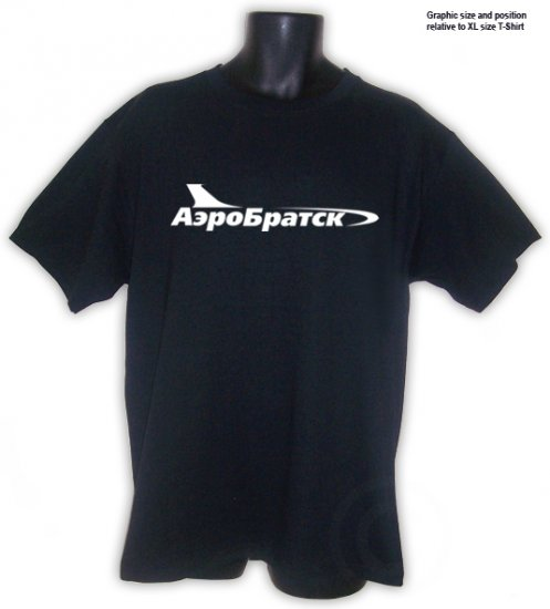 AEROBRATSK Russian airlines USSR  T-SHIRT Black S, M, L, XL, 2XL