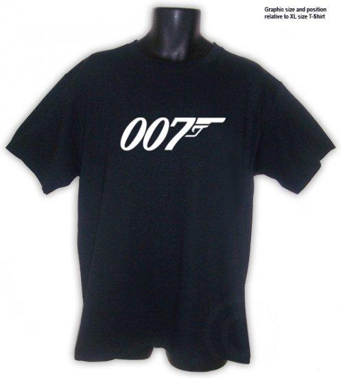 BOND JAMES 007 MOVIE Fan T-Shirt Black S, M, L, XL, 2XL