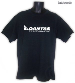 QUANTAS Australian airlines aviation  T-SHIRT black S, M, L, XL, 2XL