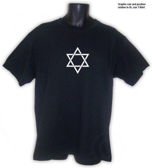 STAR OF DAVID Symbol Jewish T-Shirt Black S, M, L, XL, 2XL