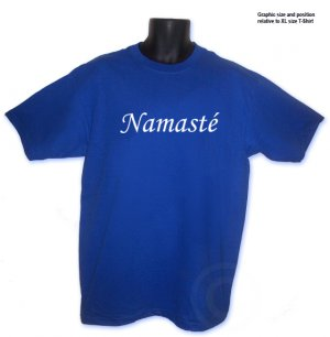 NAMASTE Yoga salutation T-shirt S, M, L, XL, 2XL