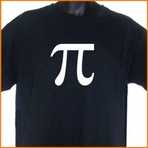 PI Math Symbol BLACK T-Shirt S, M, L, XL ~  FREE SHIPPING