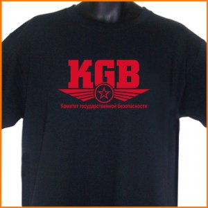 KGB Russian USSR T-Shirt  2XL ~  FREE SHIPPING