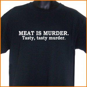 Meat Is Murder T-Shirt  Tee 2XL