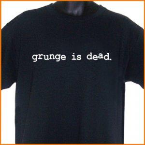 GRUNGE IS DEAD Cobain T-Shirt  2XL ~  FREE SHIPPING