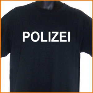 POLIZEI German Police T-Shirt 2XL ~  FREE SHIPPING