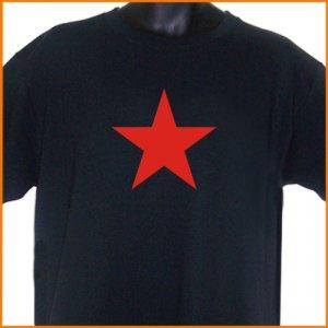 Red Star T-Shirt Black 2XL ~ FREE SHIPPING