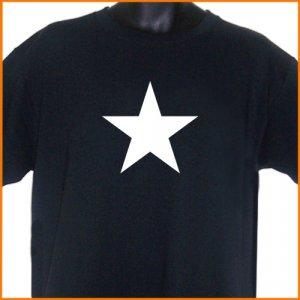 WHITE STAR T-Shirt Black 2XL