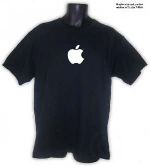 Apple Computer Geek T-Shirt 2XL ~ FREE SHIPPING