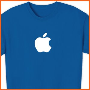 FREE SHIPPING 12.95 APPLE T-Shirt Computer GEEK shirt Mac logo OSX TEE S, M, L, XL