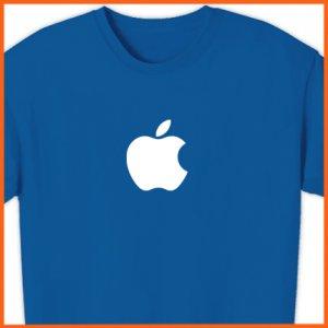 APPLE T-Shirt Computer GEEK shirt Mac logo OSX TEE 2XL ~  FREE SHIPPING