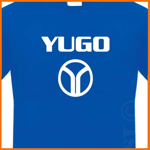 YUGO T-shirt RETRO 80s CAR Shirt FUNNY Yugoslavia TEE S - 2XL