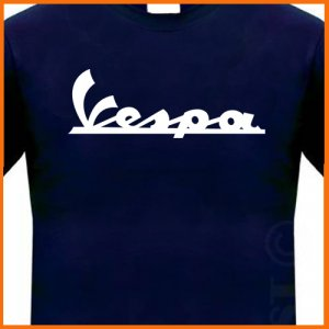 VESPA T-shirt ITALAIN SCOOTER shirt COOL geek LOGO TEE S - 2XL