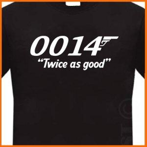 0014 Twice as good AGENT T-Shirt Black tee S -2XL