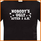 Jersey Shore Nobody's Ugly Miami T-shirt  *NEW* Black S -XL