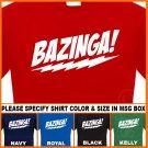 Bazinga The Big Bang Theory T-Shirt  7.95 Sheldon Tee S - XL