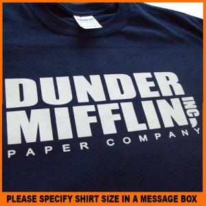 Dunder Mifflin Paper Company The Office T-shirt Shirt S -XL