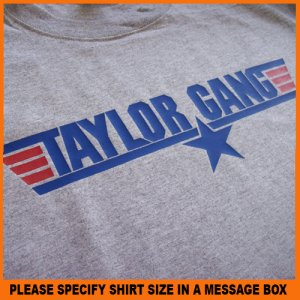 Taylor Paper Star Gang Air Force Wiz Khalifa T-Shirt S -XL