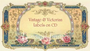 BLANK LABELS on CD - 600 Victorian vintage style labels and tags