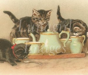 VINTAGE ANIMALS on CD - 1000 victorian images cats dogs horses and MORE
