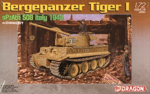 BERGEPANZER TIGER I with ZIMMERIT - 1/72 DML Dragon 7210