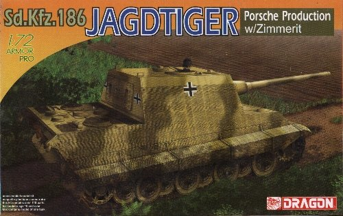JAGDTIGER PORSCHE with ZIMMERIT Tank Destroyer 1/72 DML Dragon 7291