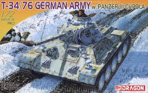 T-34/76 GERMAN ARMY with PANZER III CUPOLA - 1/72 DML Dragon 7316