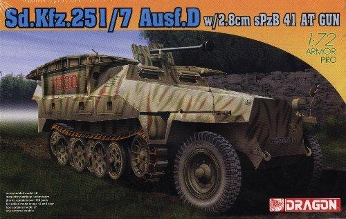 SdKfz 251/7 AUSF D with 2.8cm sPzB 41 Anti-Tank Gun - 1/72 DML Dragon 7317