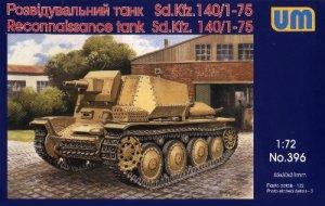AUFKLARUNGSPANZER 38(t) SdKfz 140/1 Reconnaissance Tank - 1/72 UM UniModels 396