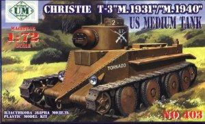 CHRISTIE T3 M1931/M1940 - 1/72 UM UniModels 403