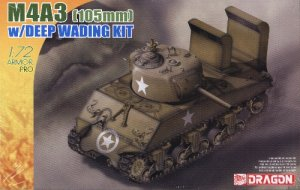 M4A3 105mm SHERMAN with DEEP WADING KIT - 1/72 DML Dragon 7330
