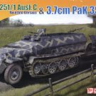 SdKfz 251/1 AUSF C RIVETTED VERSION and 3.7cm PaK35/36 ANTI-TANK GUN - 1/72 DML Dragon 7371
