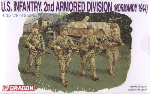 U.S. INFANTRY 2nd ARMORED DIVISION NORMANDY 1944 - 1/35 DML Dragon 6120