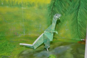 origami t-rex (tyrannosaurus  rex) dinosaur