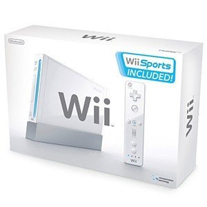 Original Wii Console package plus Resident Evil 4 Wii edition game
