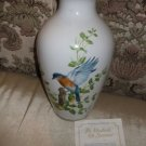 BLUEBIRDS OF SUMMER VASE/ BY ANTHONY J. BUDISILL WITH CERTIFICATE