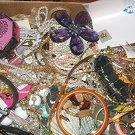 HUGE LOT OF UNSORTED COSTUME JEWLERY RHINESTONES 10LBS+ TREASURE HUNT